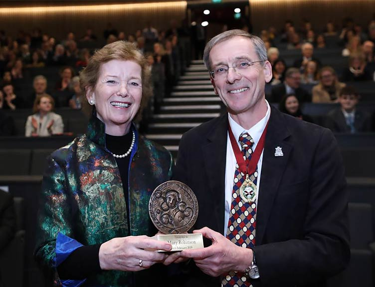 Mary Robinson receives Emily Winifred Dickson Award