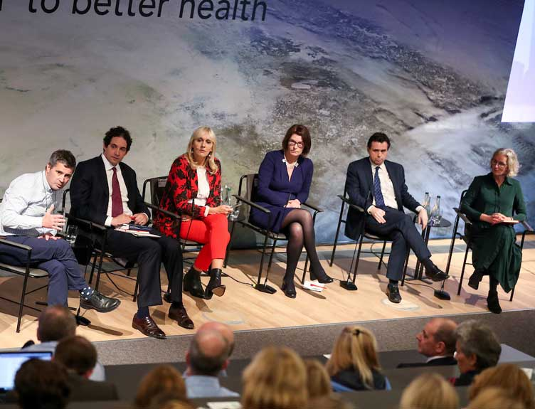 Prof. Norman Delanty, Alex Berenson, Miriam O'Callaghan,  Prof. Mary Cannon, Dr Garret McGovern and Prof. Susan Smith.