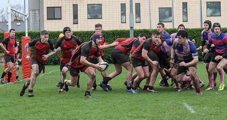 RCSI Rugby in action